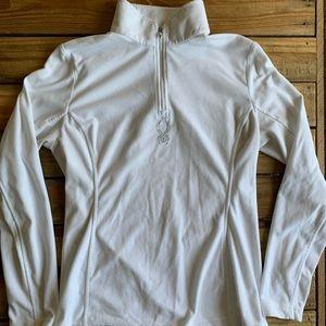 Spyder Fleece Pullover Quarter Zip White 8